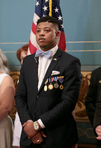 State Rep. Jewell Jones (D-Inkster) at the Senate Memorial Day Ceremony on May 25, 2017.