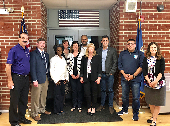 State Rep. Darrin Camilleri (D-Brownstown Township) and other legislators gathered for a tour of the Downriver Community Conference facility in Southgate recently.