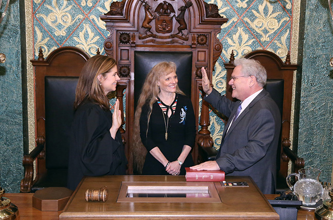 State Rep. Jim Ellison (D-Royal Oak) was sworn in officially as representative for the 26th House District for the 2019-2020 legislative session, on Wednesday, January 9, 2019. The swearing-in ceremony marked the formal opening of Michigan's 100th Legislature.
