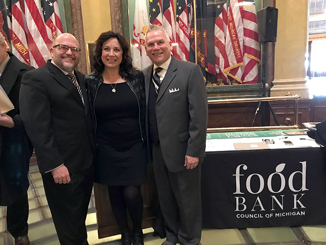 State Rep. Angela Witwer (D-Delta Township) met with representatives of the Food Bank Council of Michigan recently.