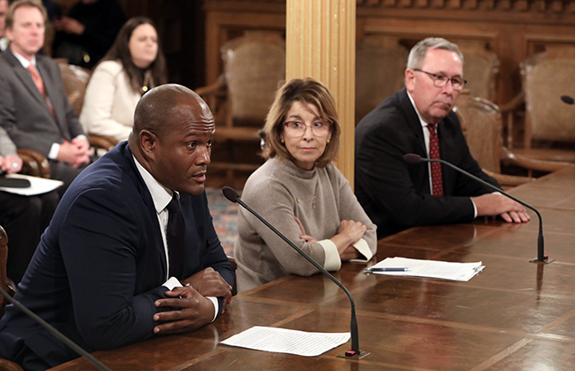 State Rep. Joe Tate (D-Detroit) testifies in the House Ways and Means Committee Thursday, October 3, 2019.