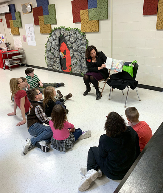 State Rep. Angela Witwer (D-Delta Township) read to students at Bellevue Community Schools and Delta Center in Grand Ledge in honor of March is Reading month, Friday, March 8, 2019.
