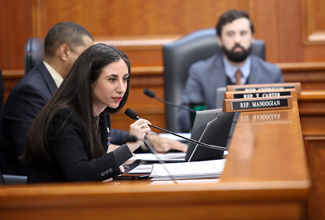 State Rep. Mari Manoogian (D-Birmingham) in the House Committee on Military, Veterans and Homeland Security, Tuesday, March 5, 2019.