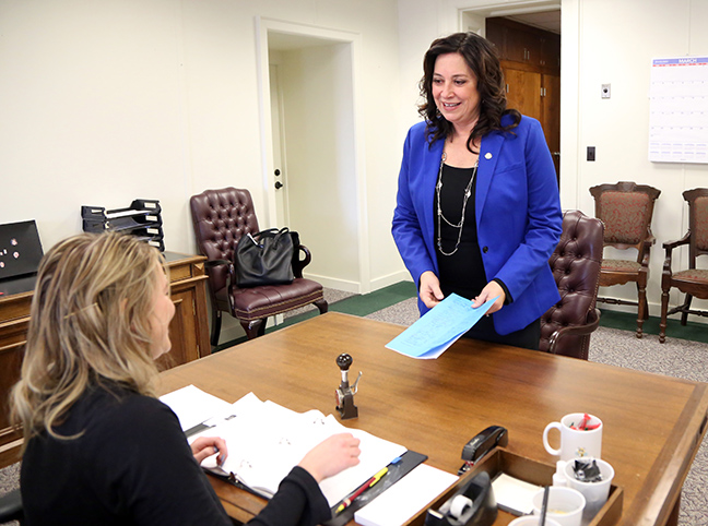 State Rep. Angela Witwer (D-Delta Township) introduced legislation to help working families keep more of their hard-earned money by restoring the credit it its pre-2011 level, Tuesday, March 5, 2019. House Bill 4298 would return the EITC, which is available to low- to moderate-income working people who meet certain eligibility criteria, back to 20 percent of the federal level, where it sat before it was cut in 2011.