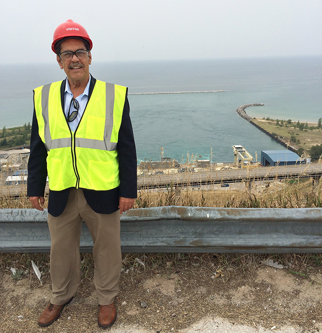 State Rep. Tim Sneller (D-Burton) visits Lake Winds Energy Park and Ludington Pump Storage Facility, in Mason County, as a member of the House Energy Policy Committee, on August 20, 2018.