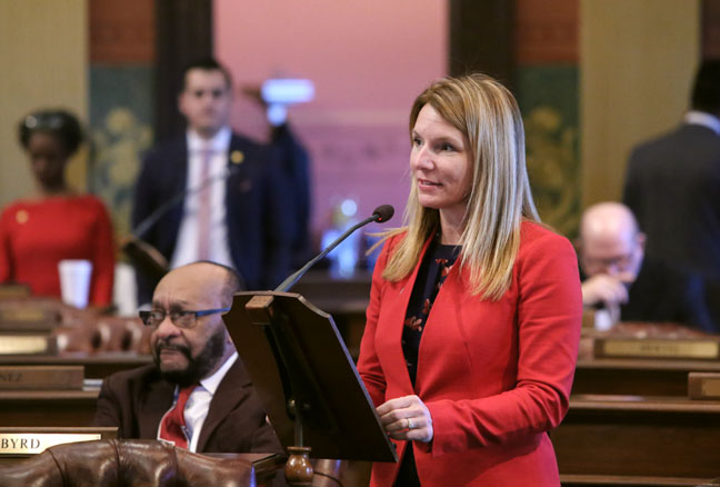 State Rep. Donna Lasinski (D-Scio Township) introduced House Resolution 33 to declare March 8, 2017, as International Women's Day in the state of Michigan. This marks the 106th anniversary of the international celebration, originally known as International Working Women's Day. Lasinski's resolution recognizes the struggles women have faced around the world and commemorates the economic, political and social achievements of women past, present and future.