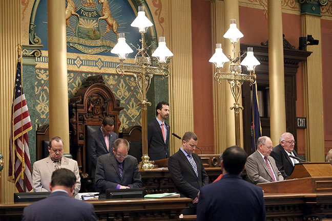 State Rep. Yousef Rabhi (D-Ann Arbor) gave the Invocation on Wednesday, Oct. 11, 2017.