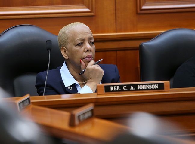 Democratic Vice Chair Cynthia A. Johnson (D-Detroit) in the House Oversight Committee on Thursday, March 14, 2019.