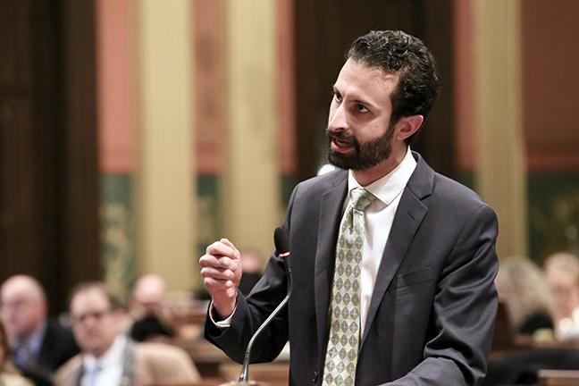 State Rep. Yousef Rabhi (D-Ann Arbor) speaks against HB 6553 on Wednesday, December 5, 2018.