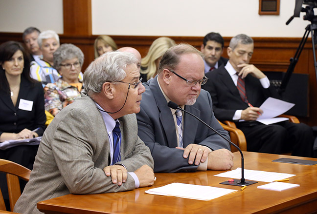 State Rep. Jim Ellison (D-Royal Oak) testifies before the House Judiciary Committee on his bipartisan legislation to protect the property rights of lawful heirs from a recently uncovered fraud scheme, on Tuesday, Sept. 19, 2017.