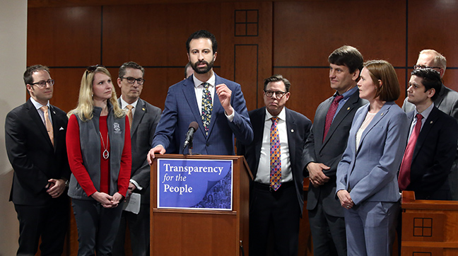 Democratic Floor Leader Yousef Rabhi (D-Ann Arbor) speaks to the House financial disclosure package on May 16, 2019.
