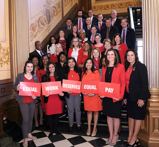 A coalition of Michigan House and Senate legislators introduced a plan today to guarantee pay equity for all residents of the state, on Wednesday, May 22, 2019. According to the Institute for Women's Policy Research, without any policy interventions to ensure equal status for women, the disparity in wages between men and women will not end in Michigan until the year 2059. House Bills 4629-40 and Senate Bills 328-39 were introduced to close that significant pay gap.