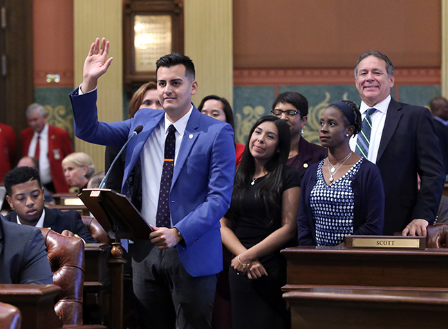 State Rep. Darrin Camilleri (D-Brownstown Twp.) and other members of the Hispanic caucus recognized Michigan Hispanic Heritage week on Tuesday, September 25, 2018.