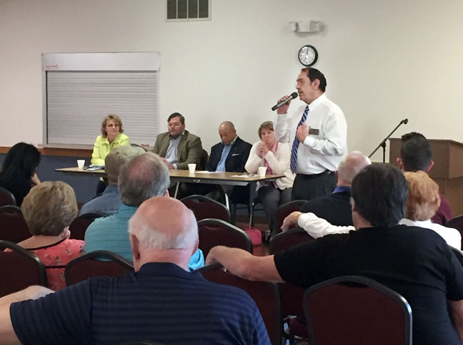 "State Rep. Tim Sneller (D-Burton) discussed state priorities with residents at the ""This is Your House Listening Tour"" town hall the hosted at the Grand Blanc Senior Center on May 15, 2017."