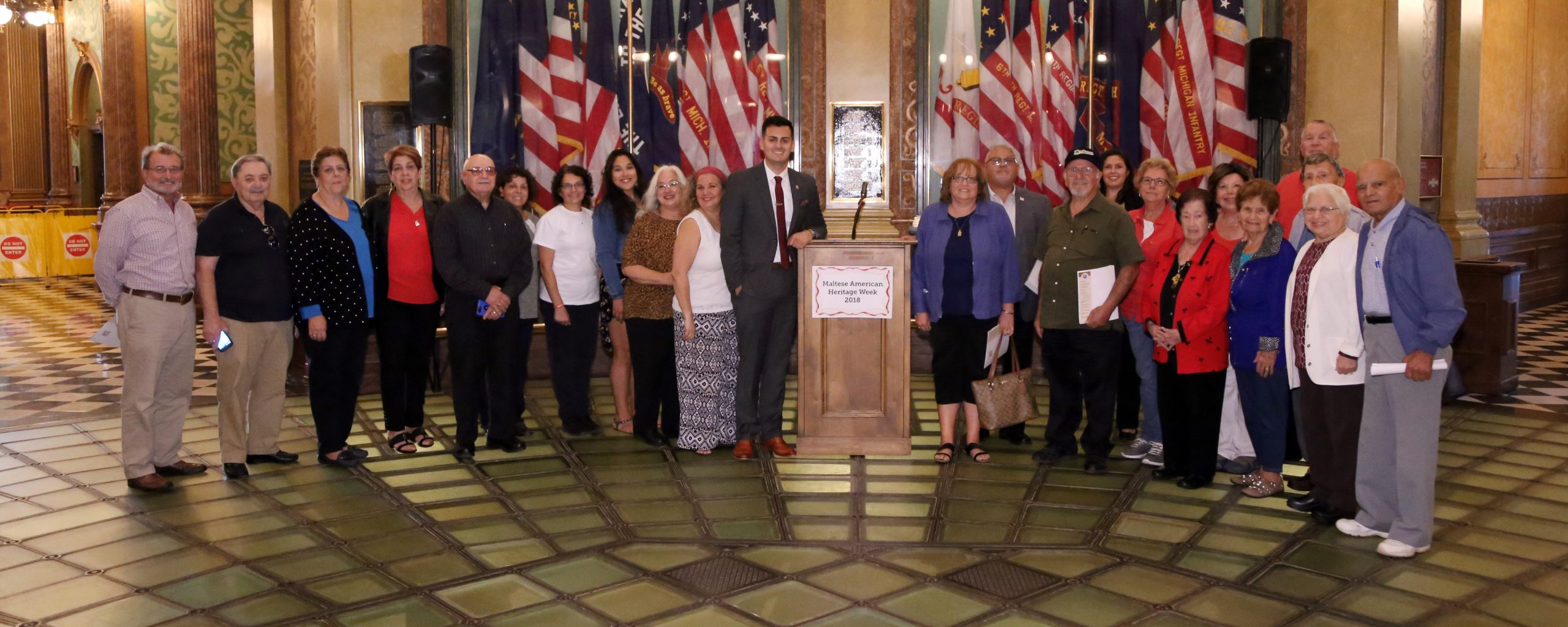 State Rep. Darrin Camilleri (D-Brownstown Township) hosted dozens of Maltese-Americans at the state Capitol to celebrate Maltese-American Heritage Week in Michigan, Wednesday, Sept. 26, 2018.