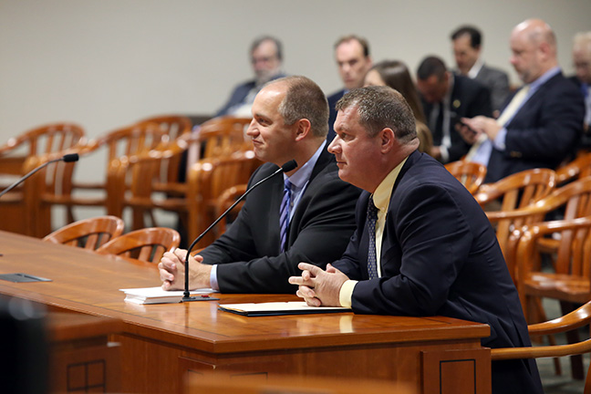 State Rep. Terry Sabo (D-Muskegon) testifies in the House Regulatory Reform Committee on Tuesday, Oct. 2, 2018.