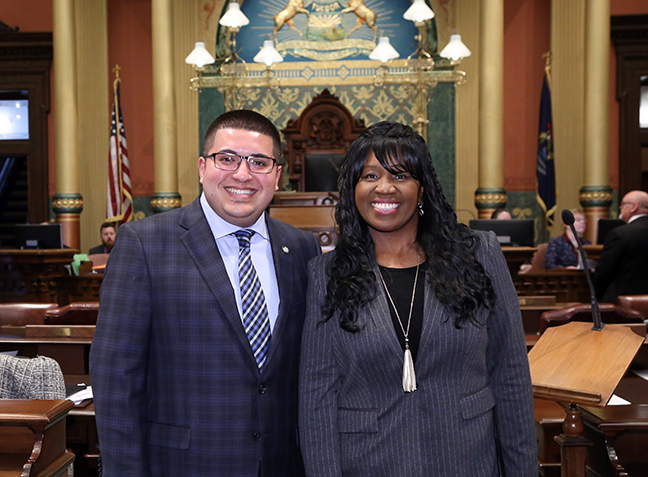 State Rep. Alex Garza (D-Taylor) welcomed Pastor Monica D. Cronk, of Help is Near Missionary Ministry in Taylor, for the Invocation on Tuesday, April 16, 2019.