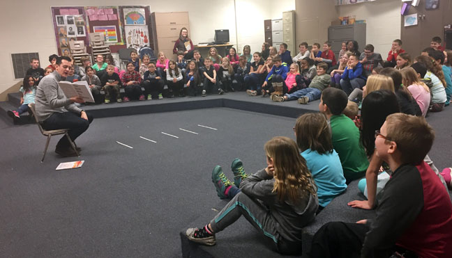 In celebration of March is Reading Month, State Rep. Darrin Camilleri (D-Brownstown Twp.) read to students at Brown Elementary on Monday, March 20, 2017.