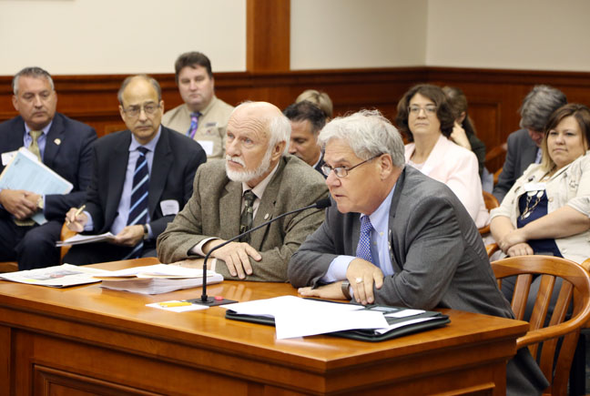 State Rep. Jim Ellison (D-Royal Oak) testified before the House Workforce and Talent Development Committee on his bipartisan package to improve workforce development training and curriculum at community colleges and universities, on May 2, 2017.