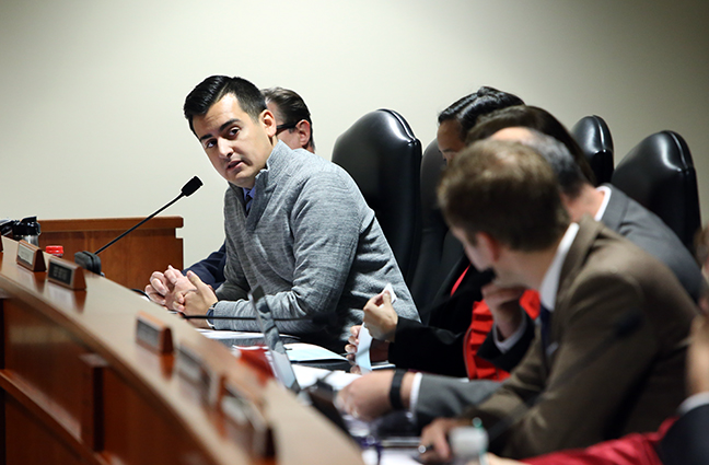 State Rep. Darrin Camilleri (D-Brownstown Twp.) in the House Committee on Education Reform, Thursday, Nov. 2, 2017.