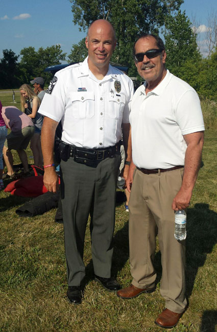 State Rep.Tim Sneller (D-Burton) attended the National Night Out event hosted by Grand Blanc Township and the city of Grand Blanc on August 1, 2017. National Night Out is an annual community-building campaign that promotes police-community partnerships.