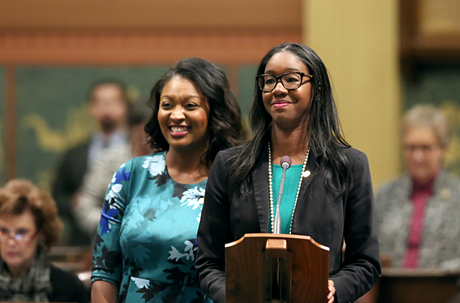 State Reps. Kyra Bolden (D-Southfield) and Sarah Anthony (D-Lansing) introduced House Resolution 7 to designate Jan. 15, 2019, as a day of action to commemorate Alpha Kappa Alpha (AKA) Sorority's Founders' Day. Founded in 1908 at Howard University, AKA is the first Greek-letter sorority to be established by African-American college women.
