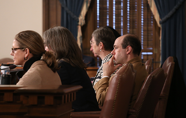 State Rep. John Cherry (D-Flint) listens to testimony in the House Appropriations Committee Wednesday, February 27, 2019.
