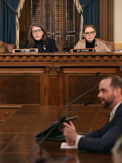 State Rep. Rachel Hood (D-Grand Rapids) listens to testimony in the House Appropriations Committee Wednesday, February 27, 2019.