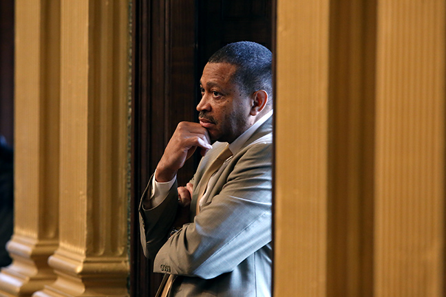 State Rep. Tyrone Carter (D-Detroit) on the House floor Tuesday, May 7, 2019.