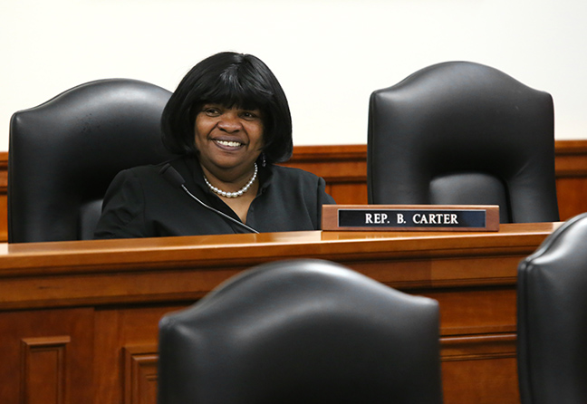 State Rep. Brenda Carter (D-Pontiac) in committee on Wednesday, May 8, 2019.