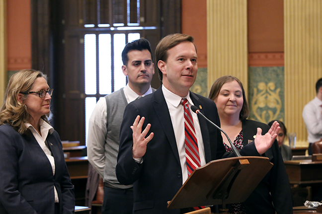 On Thursday, May 2, state Rep. Matt Koleszar (D-Plymouth) spoke to his resolution recognizing Teacher Appreciation Week in Michigan, May 6-10, 2019.