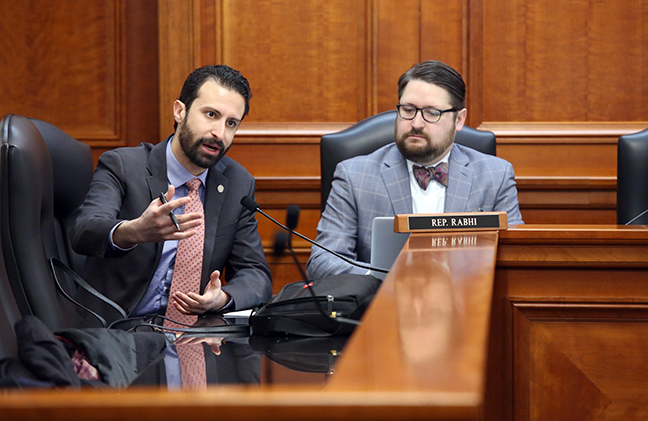 Democratic Floor Leader Yousef Rabhi (D-Ann Arbor) in the House Government Operations Committee on Tuesday, March 5, 2019.