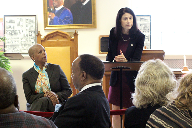 State Rep. Cynthia A. Johnson (D-Detroit) hosted an Elder Abuse Town Hall with special guest Attorney General Dana Nessel at St. Stephen AME Church in Detroit on Monday, October 7, 2019.