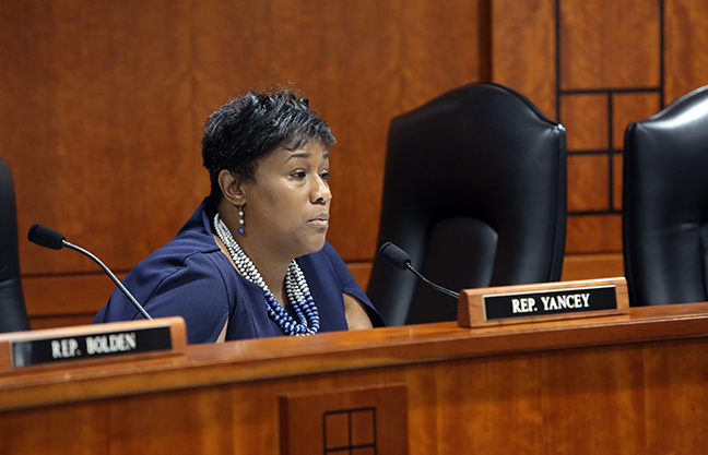State Rep. Tenisha Yancey (D-Detroit) in the House Judiciary Committee Tuesday, March 5, 2019.