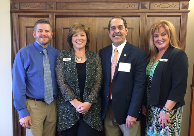 State Rep. Tim Sneller (D-Burton) met with credit union members from Genesee County during their legislative advocacy day at the state Capitol on April 26, 2017.