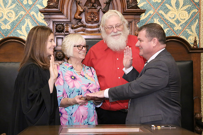 State Rep. Terry Sabo (D-Muskegon) was sworn in officially as representative for the 92nd House District for the 2019-2020 legislative session, on Wednesday, January 9, 2019. The swearing-in ceremony marked the formal opening of Michigan's 100th Legislature.