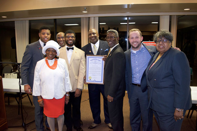 State Rep. Jewell Jones (D-Inkster) expressed his continued support for the city of Inkster after Mayor Byron Nolen gave his 2017 State of the City address last week at the Booker T. Dozier Recreational Center. Jones, who was a member of the Inkster City Council before becoming state representative, was proud to have taken part in changes to the city charter that shift power away from an appointed city manager and move it to the elected mayor and city council.
