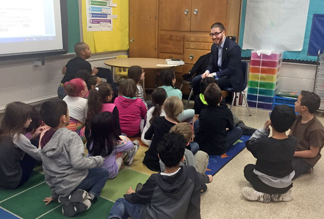In celebration of March is Reading Month, State Rep. Abdullah Hammoud (D-Dearborn) read to students at Snow Elementary on Monday, March 20, 2017.