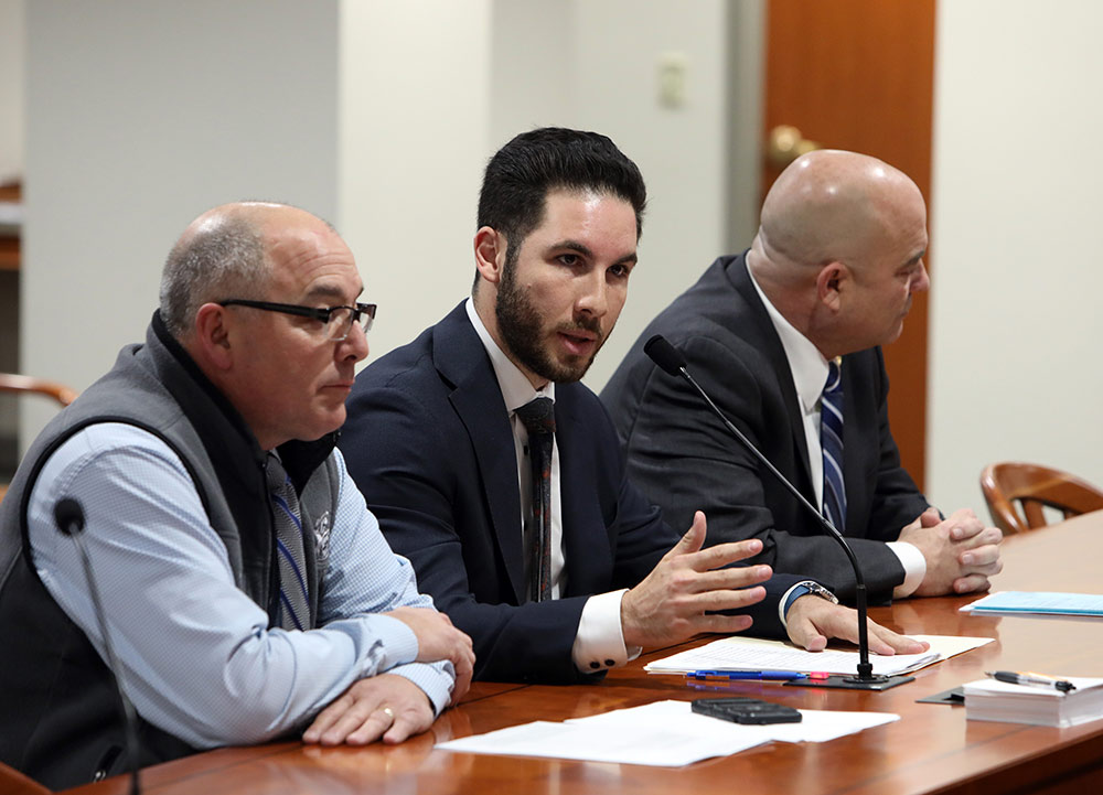 State Rep. Abdullah Hammoud (D-Dearborn) testifying before the House Regulatory Reform Committee regarding House Bill 5159 of 2019 on Dec. 3, 2019.