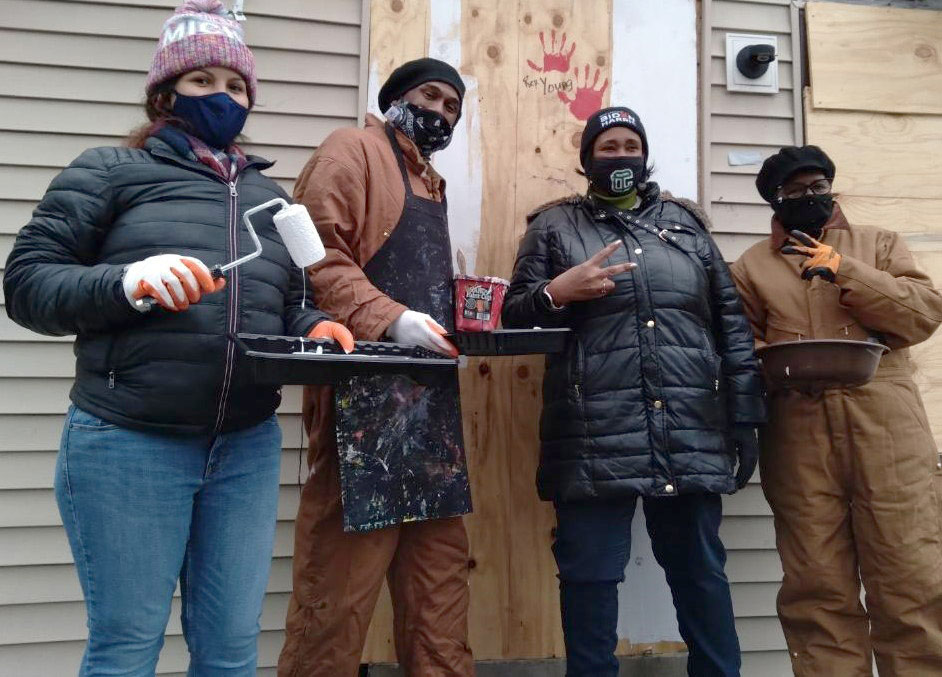 Rep. Stephanie A. Young and her staff partnered with the Detroit Blight Buster for a Day of Service on Martian Luther King, Jr. Day, January 18, 2021. Volunteers took down three burned-out homes and cleared the debris in the Old Redford neighborhood of Northwest Detroit.