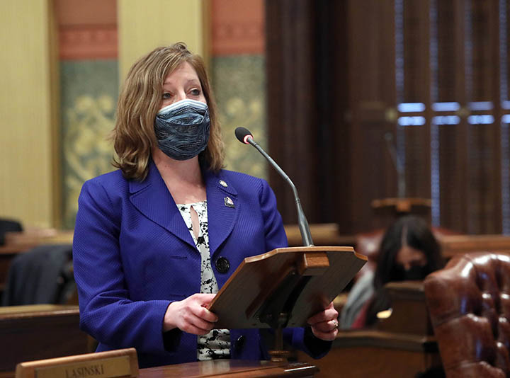 State Rep. Julie M. Rogers (D-Kalamazoo) introduced House Resolution 50, which honors the 100th anniversary of the American Physical Therapy Association, on March 4, 2021.