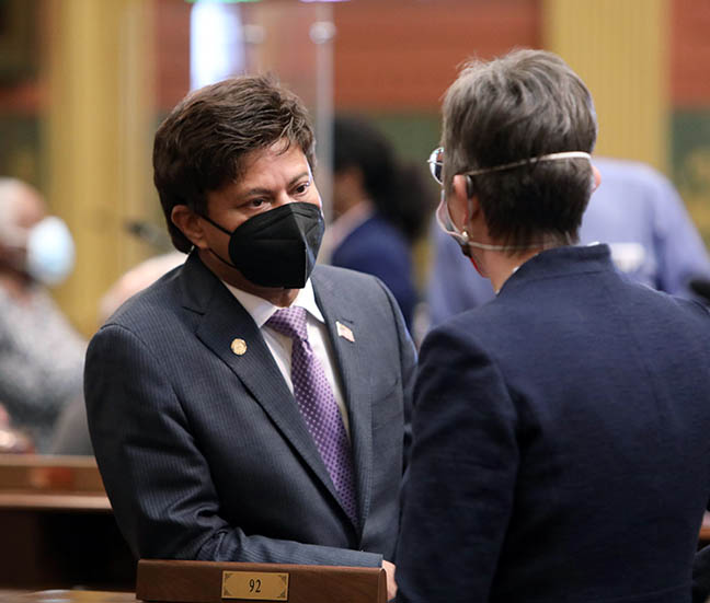 State Rep. Shri Thanedar (D-Detroit) on the House floor February 18, 2021.