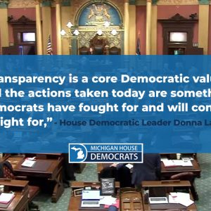 House Democrats push for stronger transparency after critical votes