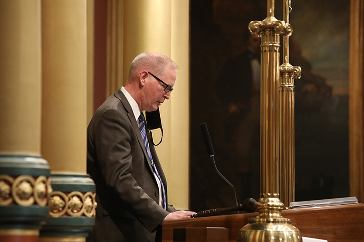 State Rep. Jim Haadsma (D-Battle Creek) gave the Invocation to open session on Tuesday, April 27, 2021.