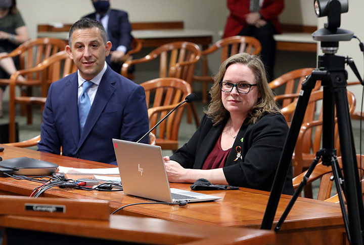 State Rep. Kelly Breen (D-Novi) testified on House Bill 4496 in the House Committee on Local Government and Municipal Finance on Wednesday, April 28, 2021. The bill, which is Breen's first piece of legislation introduced in the House, would provide county treasurers with the authority to enter into repayment plans for commercial property taxes that are past-due, allowing commercial property owners to avoid foreclosure by the county as long as payments are being made.