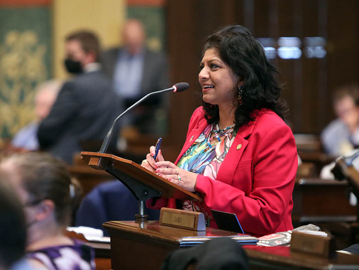 State Rep. Padma Kuppa (D-Troy) spoke on the House floor May 19, 2021.