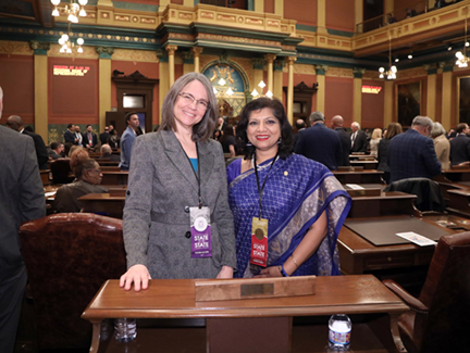 State Rep. Padma Kuppa (D-Troy) at the State of the State January 29, 2020.