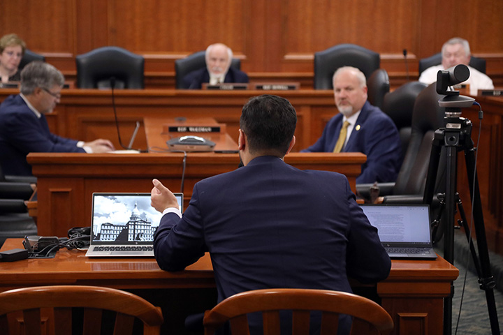State Rep. Abraham Aiyash (D-Hamtramck) testified on HB 4767, a bill he sponsored dealing with asbestos cleanup, in the House Committee on Natural Resources and Outdoor Recreation on May 20, 2021.