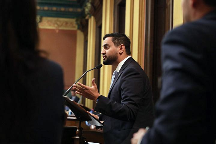 State Rep. Abraham Aiyash (D-Hamtramck) spoke on the House floor June 30, 2021.