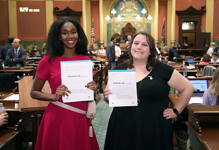 State Reps. Kyra Bolden (D-Southfield) and Regina Weiss (D-Oak Park) introduced bills on June 1, 2021, that would develop and implement an initiative to increase awareness of veterans benefits.
